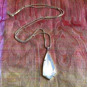 Kendra Scott Gold & Ivory Pearl Pendant Necklace